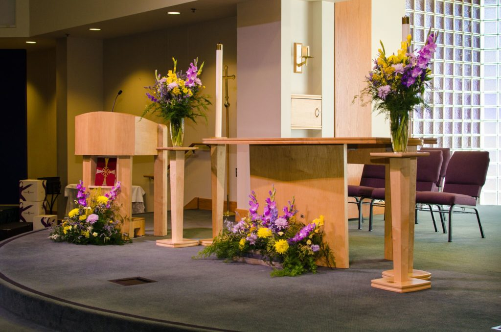 Altar Decorated With Flowers