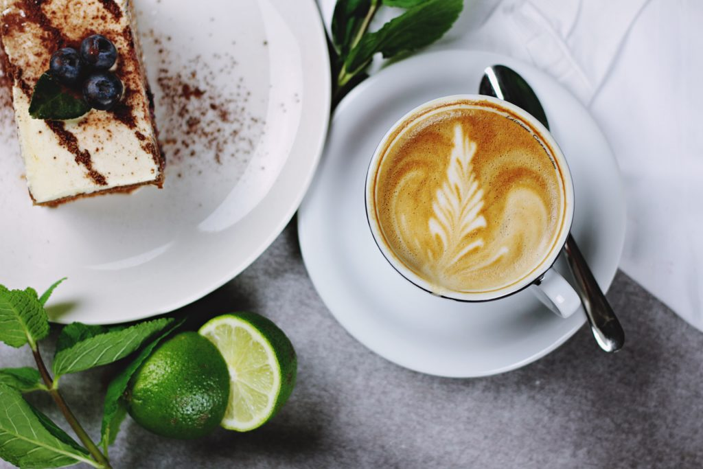 Coffee and Cake On A Table