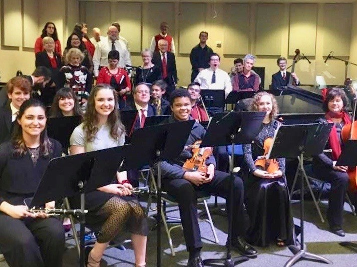 Choir Dressed in Festive Attire